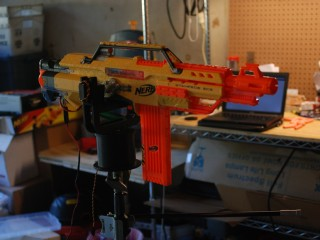 Nerf Gun Turret Mounted