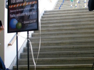 Stairs closed – That's a lot of balls! (Photo by Kennedy Library)