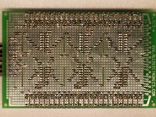 Shift resistor breakout board – Bottom view – Only 427 solder points!