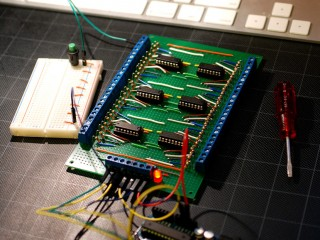 Shift resistor breakout board completed and working!
