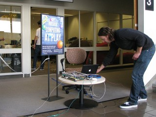 Pre-event breakout box final setup (Photo by Kennedy Library)