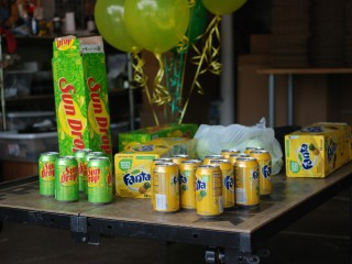 After some quick, at-scale testing, the soda cans ultimately failed