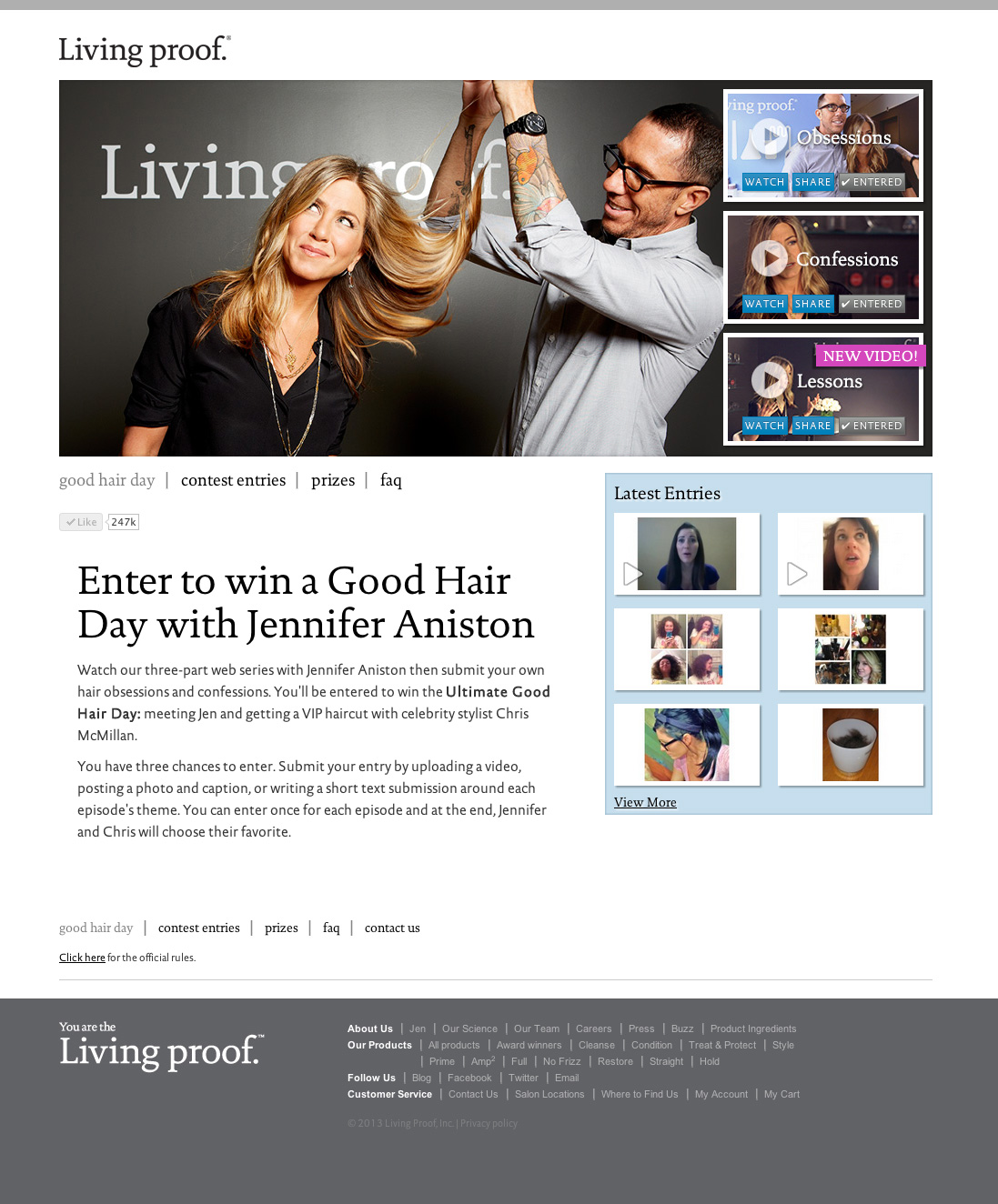 Good Hair Day Landing Page