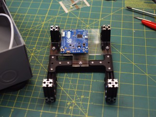 Arduino mounted to internal frame