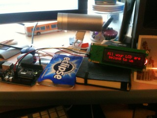 Twilio SMS to LCD Tests