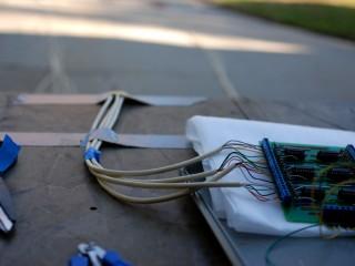 Breakout board wires secured