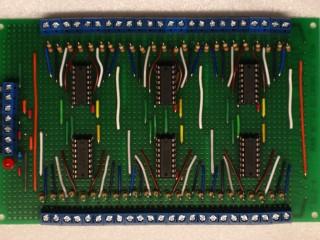 Shift resistor breakout board - Top view