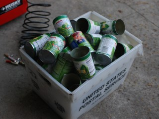 Tin Cans Emptied