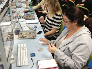 Physical Computing Workshop Students