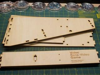 Laser cut frame pieces