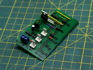 Completed circuit board