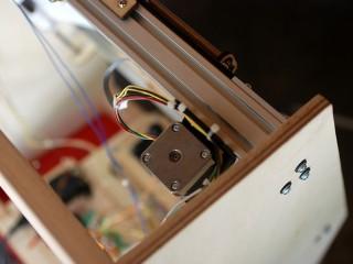 Background scroll stepper motor