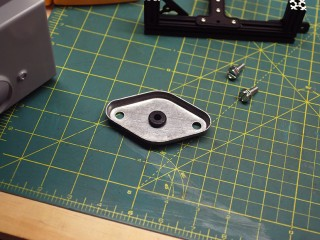 Enclosure drilled – Rubber cable mount added