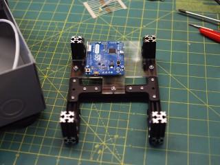 Arduino mounted to internal frame