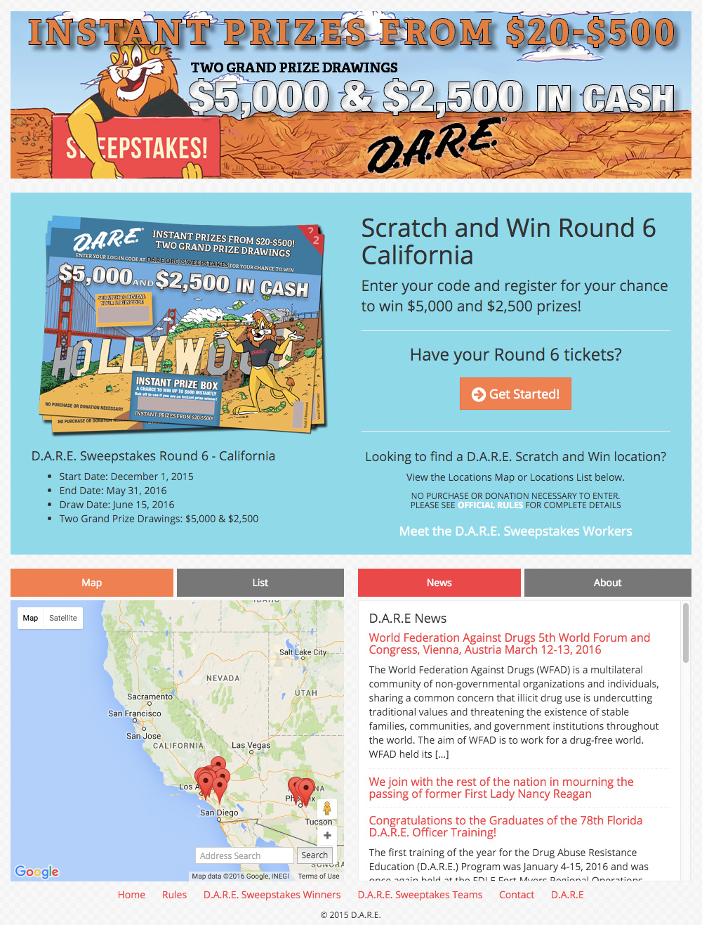DARE Sweepstakes
