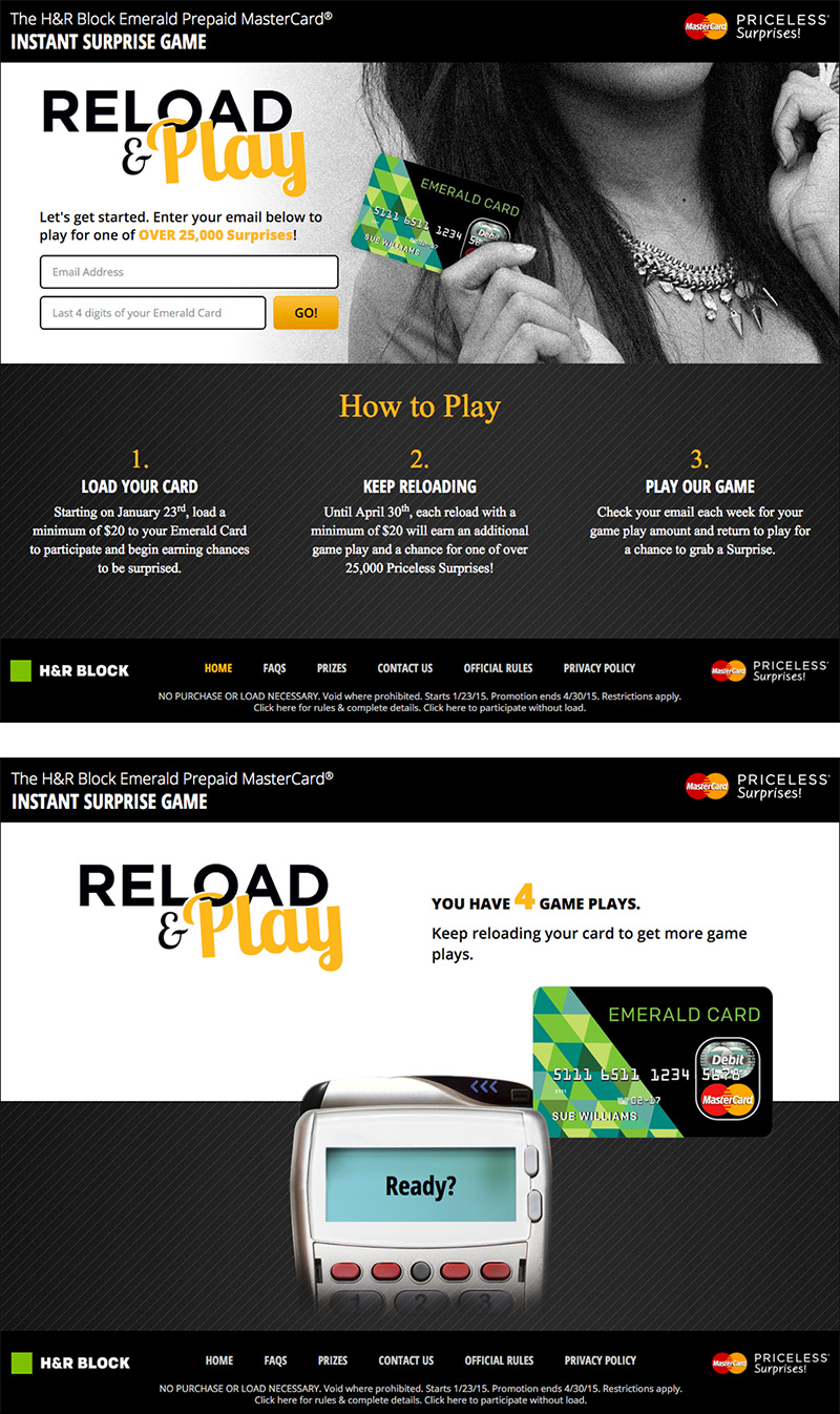 MasterCard Reload & Play